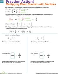 multiplication of mixed numbers with area models lesson plan