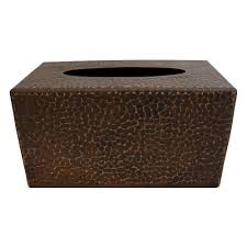 premier copper products large hammered copper tissue box