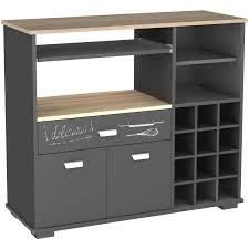 meuble cuisine meuble cuisine buffet avec 3 tiroirs gris foncé dim 103 x 40 x