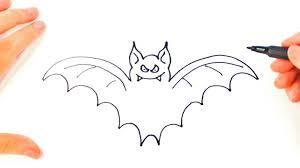 how to draw a bat bat easy draw tutorial youtube