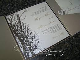 winter themed wedding invitations winter wedding ivitations rayann winter tree pocket fold