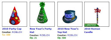 new year items happy new year roblox