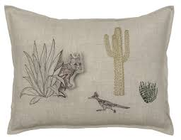 coral and tusk embroidered decorative pillows