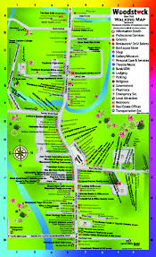 Double Map Walking Map Sponsor Woodstock Chamber Of Commerce And Arts