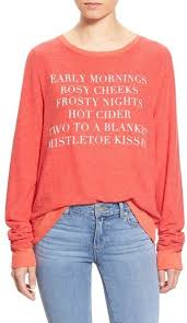 wildfox couture wildfox baggy jumper list pullover