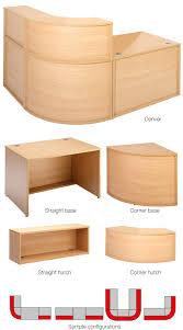 Inexpensive Reception Desk Budget Reception Desk Components Beech Specialist Furniture
