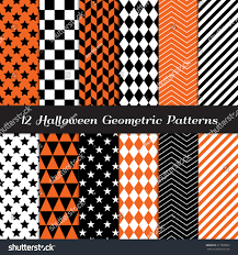 orange black halloween background halloween orange black white geometric patterns stock vector