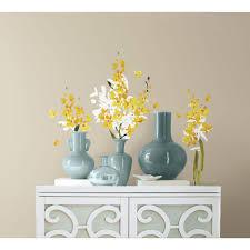 roommates 5 in x 11 5 in yellow flower arrangement peel and yellow flower arrangement peel and stick wall decals