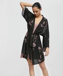 robe de chambre robe de chambre style kimono gaze fleur déshabillés oysho