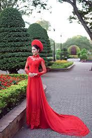 ao dai cuoi dep mẫu áo dài cưới đẹp lộng lẫy cho cô dâu năm 2016