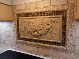Decorative Tiles For Kitchen Backsplash Kitchen Backsplash - Kitchen medallion backsplash