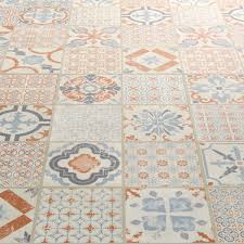 starfloor tile retro orange blue luxury vinyl tile home