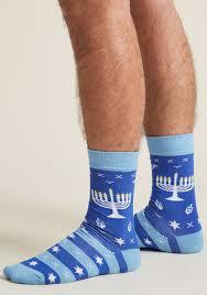 chanukah socks mazel toes men s socks modcloth hanukkah chanukah ad