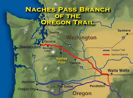 Map Of Washington State Cities by Naches Trail Pass Washington State Trails