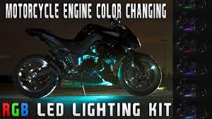 Motorcycle Led Strip Lights by Motorcycle Engine Color Changing Rgb Led Lighting Kit Sport Bike