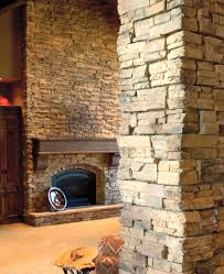 stone fireplace wall stone creek furniture red wall black wall