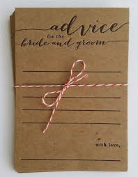 and groom cards bridal shower idea rustic cards for guests to write advice for