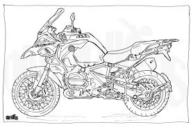 colouring motorcycle illustration motorcycle