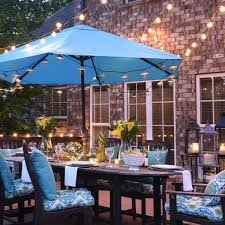 Patio Umbrella String Lights How To Dazzle Your Home With Lights All Year Lights