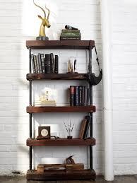 Distressed Black Bookcase Furniture Home Marvelous Vintage Bookcases And Shelves Design