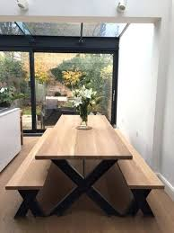 corner dining table with bench canada farmhouse table with benches