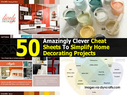 home design brand sheets 50 amazingly clever cheat sheets to simplify home decorating projects