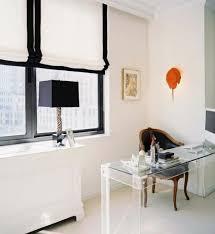 raffrollo design fenster sichtschutz schwarz weiß raffrollo curtains
