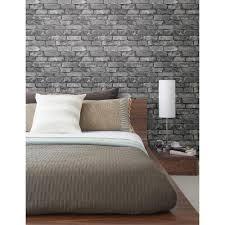 beacon house 56 4 sq ft brickwork slate exposed brick wallpaper