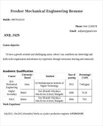 Resume Samples For Mechanical Engineers by 47 Engineering Resume Samples Free U0026 Premium Templates