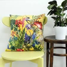Home Decor Cushions Botanical Design Floral Sofa Cushions Tropical Style By Gillian