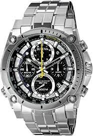 black friday watches amazon amazon com bulova men u0027s 96b175 precisionist stainless steel watch