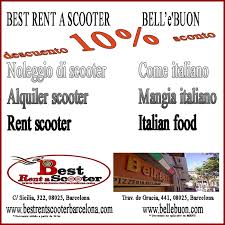 restaurant discounts partners discount from best rent a scooter in barcelona