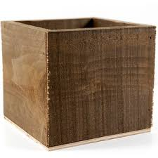 rustic barnwood 6x6 planter box 9 99 each 3 for 9 each polyvore
