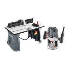 bosch router table lowes shop task force variable speed plunge corded router with table