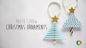paper straw christmas ornament youtube