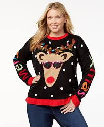it s our time trendy plus size light up reindeer sweater