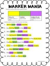 8 best parts of speech images on pinterest word study word work