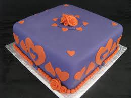 purple and orange bridal shower cake cakecentral com