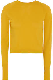 knitted sweater dkny cropped knitted sweater a porter com