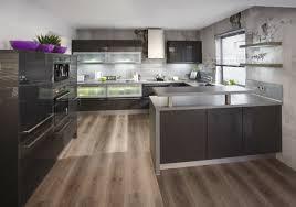 sol stratifié pour cuisine cuisine superbe exemple meuble cuisine couleur anthracite plan de