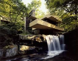 House Over Water Large Fallingwater Photos Low Angle Near Waterfall Frank Lloyd