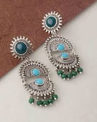 artificial earrings online buy artificial jewellery bridal oxidised kundan pearl