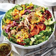 Main Dish Chicken Recipes - grilled chicken and vegetable summer salad recipe myrecipes