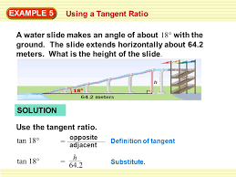 example 4 using a sine ratio ski jump ppt download