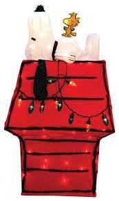 snoopy christmas dog house pre lit peanuts snoopy and woodstock dog house christmas yard