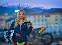 girls on motocross bikes wearing stilettos on a dirt bike shows how badass russian riders
