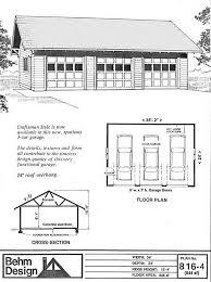 how big is a three car garage oversized craftsman style garage plans 816 4 35 2 x 24 behm