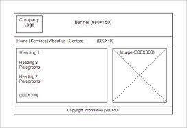 website storyboard template u2013 8 free sample example format