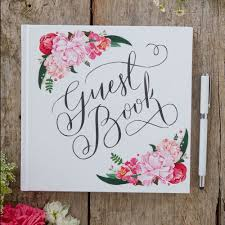 wedding guest book white floral wedding guest book boho style wedding reception