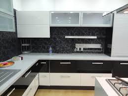 kitchen beautiful black backsplash kitchen decor with white and